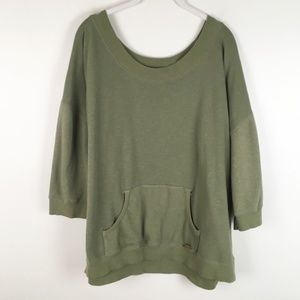 Avenue | the slouchy sweat shirt olive green 0859
